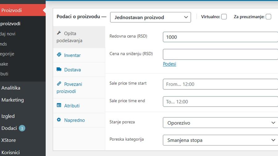 prikaz cene sa porezom u online prodavnici admin 16-9